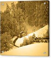 Winter Wonderland In Switzerland - Up The Hills Acrylic Print