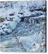 Winter Wonderland Of Minnehaha Falls  Acrylic Print