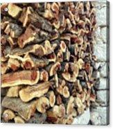 Winter Woodpile Acrylic Print