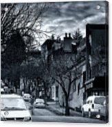 Winter Yew Street Acrylic Print