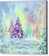 Winter Wonderland Aurora Borealis  Acrylic Print