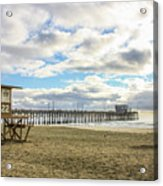 Winters Beach Acrylic Print