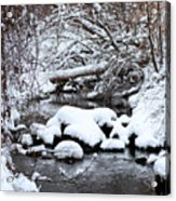 Winters Crossing Acrylic Print
