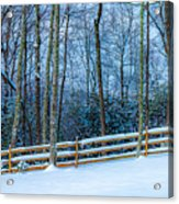 Winters Day - Pisgah Forest Nc Acrylic Print