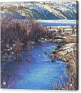 Winter's Edge, Flat Creek Jackson Acrylic Print