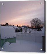 Winter's Evening  Acrylic Print by Thomas  MacPherson Jr