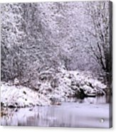 Winters First Icy Breath Acrylic Print