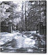 Winter's Gates Acrylic Print