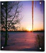 Winters Glow Acrylic Print