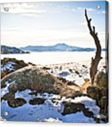 Winter's Silence - Pathfinder Reservoir - Wyoming Acrylic Print