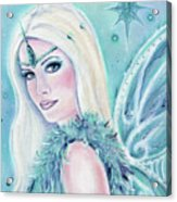 Winters Song Fairy Acrylic Print