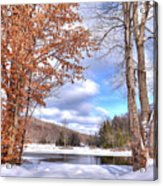 Winters Window Acrylic Print