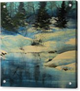 Winterscape Acrylic Print by Robert Carver