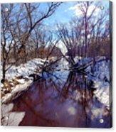 Wintertime In Necedah  Acrylic Print