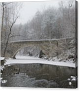 Wintertime In The Wissahickon Valley Acrylic Print