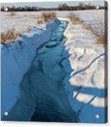 Wintery Creek Acrylic Print