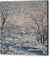 Wintery December Acrylic Print