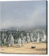 Wintery Mountain Ranch Acrylic Print