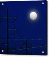 Wired Moon Acrylic Print
