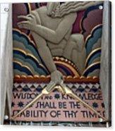 Wisdom Lords Over Rockefeller Center Acrylic Print