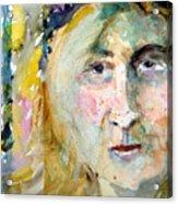 Wisdom Acrylic Print by Mindy Newman