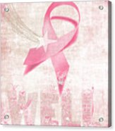 Wishing Well Breast Cancer Acrylic Print by Laura Brightwood