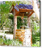 Wishing Well Cambria Pines Lodge Acrylic Print by Arline Wagner