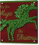 Wishing You Magic This Christmas Acrylic Print