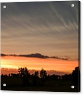 Wispy Clouds At Sunset Acrylic Print