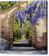 Wisteria Gate Acrylic Print