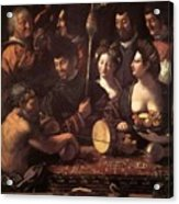 Witchcraft Allegory Of Hercules 1535 Acrylic Print