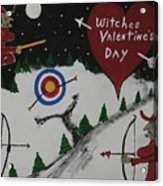 Witches Valentine's Day Acrylic Print