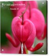 With All Your Heart Acrylic Print by Debra Straub