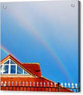 With Double Bless Of Rainbow Acrylic Print by Jenny Rainbow