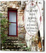 With Me - Quote Acrylic Print