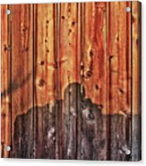 Within A Wooden Fence Acrylic Print