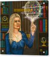 Wizards Library Acrylic Print
