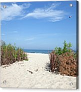 Wladyslawowo White Sand Beach At Baltic Sea Acrylic Print
