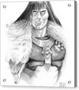 Wolf Barbarian Acrylic Print