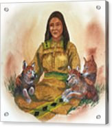 Wolf Clan Mother Acrylic Print