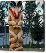 Wolf Clan Totem Pole Acrylic Print