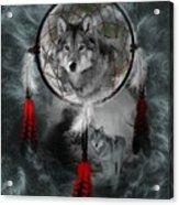 Wolf Dreamcatcher Acrylic Print