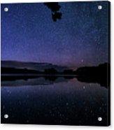Wolf Lake At Night 1 Acrylic Print