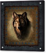 Wolf Lodge Acrylic Print by JQ Licensing