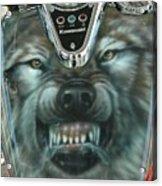 Wolf Motorcycle Gas Tank Acrylic Print