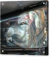 Wolf Motorcycle Side Panel Acrylic Print