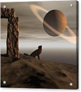 Wolf Song Acrylic Print