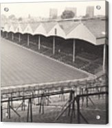 Wolverhampton - Molineux - Molineux Street Stand 1- Bw - Leitch - September 1968 Acrylic Print