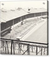 Wolverhampton - Molineux - Waterloo Road Stand 1 - Bw - Leitch - September 1968 Acrylic Print