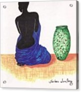 Woman And A Ginger Jar Acrylic Print